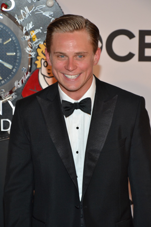 Billy Magnussen looks positively giddy to be nominated for Best Performance by an Actor in a Featured Role in a Play for <I>Vanya and Sonia and Masha and Spike</I>.<br />(© David Gordon)