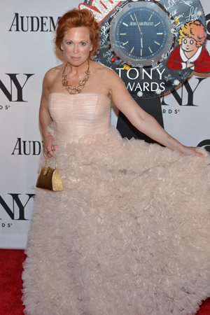 Carolee Carmello is nominated for Best Performance by an Actress in a Leading Role in a Musical for <I>Scandalous.</I> This is her poofy dress.<br />(© David Gordon)