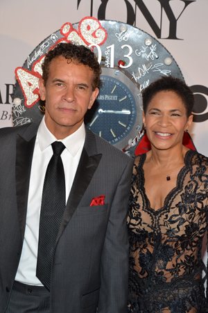 Tony winner Brian Stokes Mitchell poses with his wife, Allyson Tucker.<br />(© David Gordon)
