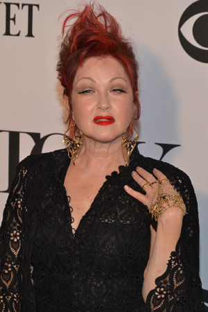 Pop star Cyndi Lauper is nominated for Best Original Score for <I>Kinky Boots</I>.<br />(© David Gordon)