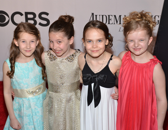 It's the Matildas: Sophia Gennusa, Bailey Ryon, Oona Laurence, and Milly Shapiro.<br />(© David Gordon)