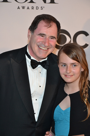 Richard Kind, who is nominated for Best Performance by an Actor in a Featured Role in a Play for <I>The Big Knife</I>, brought his daughter, Skyler, as his date.<br />(© David Gordon)