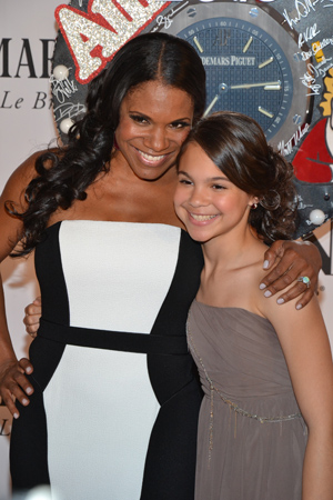 Five-time Tony winner Audra McDonald poses with her daughter Zoe. <br />(© David Gordon)