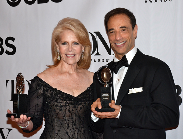 Daryl Roth and Hal Luftig, the producers of Best Musical winner <i>Kinky Boots</i><br />(© David Gordon)