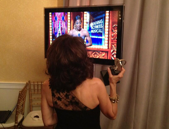 Andrea Martin watches Patina Miller win Best Actress in a Musical.<br />(© David Gordon)