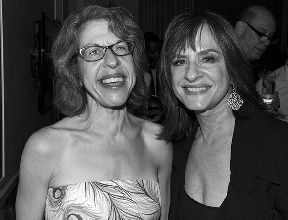 Broadway legends Jackie Hoffman and Patti LuPone smile for the camera.<br />(© David Gordon)