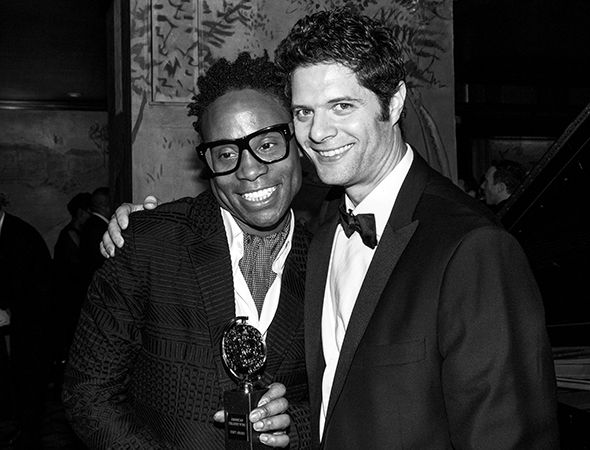 Billy Porter and Tom Kitt celebrate at the Carlyle.<br />(© David Gordon)