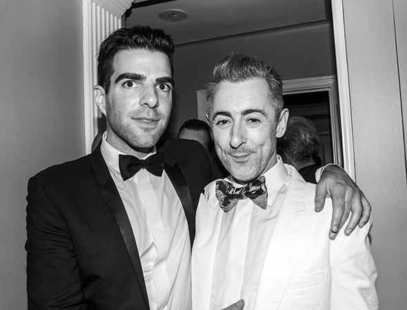 When will Zachary Quinto and Alan Cumming do a play together?<br />(© David Gordon)