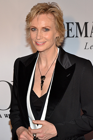Jane Lynch currently stars as Miss Hannigan in <i>Annie</i>.<br />(© David Gordon)