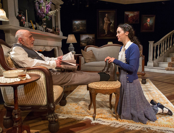 George Morfogen and Helen Cespedes as Harry and Felicity in N.C. Hunter's <i>A Picture of Autumn</i>, now playing at the Mint Theater.