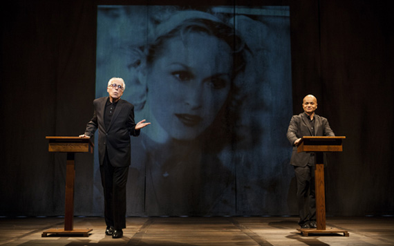 John Guare and Omar Sangare in <I>3 Kinds of Exile</I>.