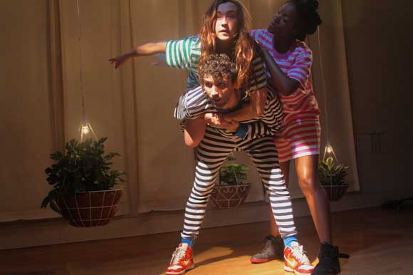 John Charles McLaughlin, Jessie Shelton, and Lachrisha C. Brown in <i>Peter/Wendy</i>.