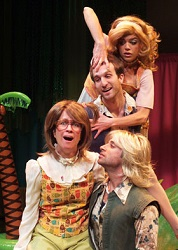 Beth Kennedy, Joseph Leo Bwarie, Tyler King, and Katherine Malak in <i>A Midsummer Saturday Night's Fever Dream</i>.