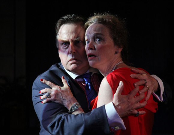 Richmond Hoxie and Kristin Griffith in Murray Schisgal's <i>Existence</i> at Ensemble Studio Theatre.