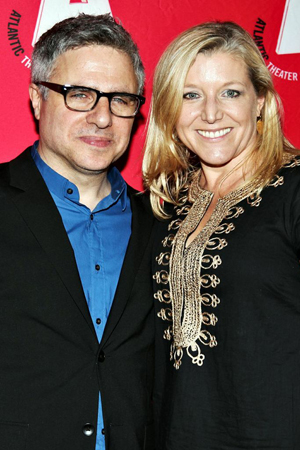 <i>3 Kinds of Exile</i> director Neil Pepe shares a photo with his wife, Mary McCann.<br />(© Annie Govekar)