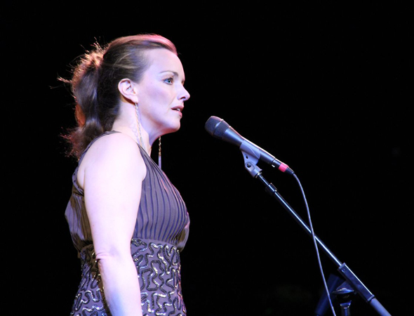 "Alice Ripley offers a sampling of the song, ""When There's No One."" <br />(© Jeff Carpenter)"