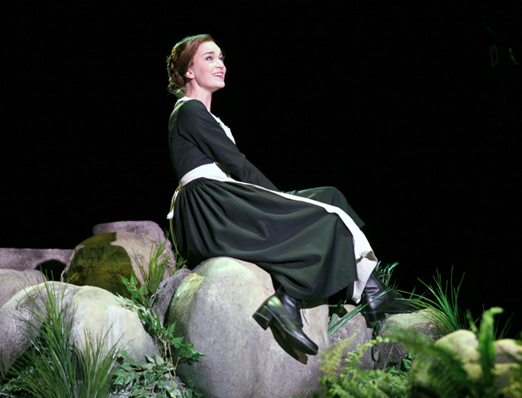 Lisa O'Hare stars as Fräulein Maria Rainer in North Shore Music Theatre's production of <i>The Sound of Music</i>.<br />(© Paul Lyden)