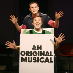 Jeff Bowen and Hunter Bell in <i>[title of show]</i>