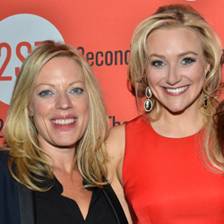 Sherie Rene Scott and Betsy Wolfe at the opening of <i>The Last Five Years</i>.