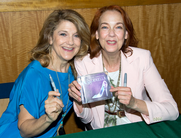 Victoria Clark and Harriet Harris are ready to sign CDs.<br />(© David Gordon)
