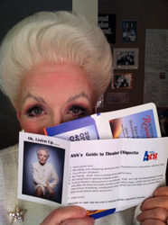 "Holland Taylor shows off ""Ann's Guide to Theater Etiquette."""
