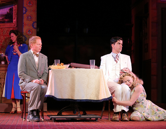 Rachel McMullin, Jesse Tyler Ferguson, Hamish Linklater and Emily Bergl in <i>The Comedy of Errors</i>