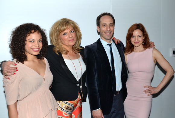 The cast of <i>A Kid Like Jake</i>: Michelle Beck, Caroline Aaron, Peter Grosz, and Carla Gugino.