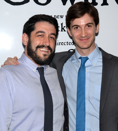 Director Evan Cabnet and playwright Daniel Pearle.