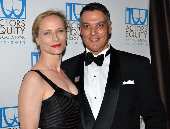 Veteran actors Laila Robins and Robert Cuccioli are dressed for a night out on the town.<br />(© David Gordon)