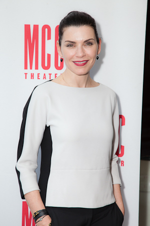 Emmy Award winner Julianna Margulies poses before the special reading of <i>The Mercy Seat</i>.  <br />(© Seth Walters)