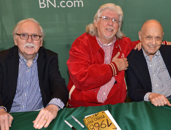 <i>Annie</i>'s Tony Award winning creators, Thomas Meehan, Martin Charnin, and Charles Strouse, are also on hand to sign CDs.<br />(© David Gordon)
