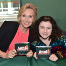 Jane Lynch, Lilla Crawford, and Annie  Company Sign New Broadway Cast Recording