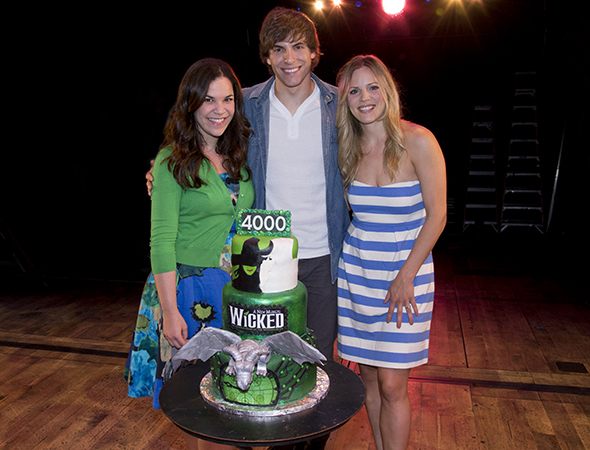 Lindsay Mendez, Derek Klena, and Katie Rose Clarke make up <i>Wicked</i>'s central love triangle.<br />(© David Gordon)