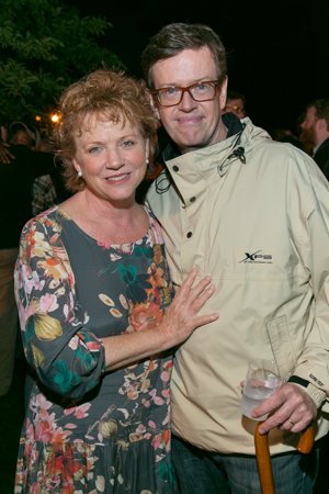 Cast member Becky Ann Baker is joined by her husband, Dylan Baker, for the post-show festivities.<br />(© Simon Luethi)