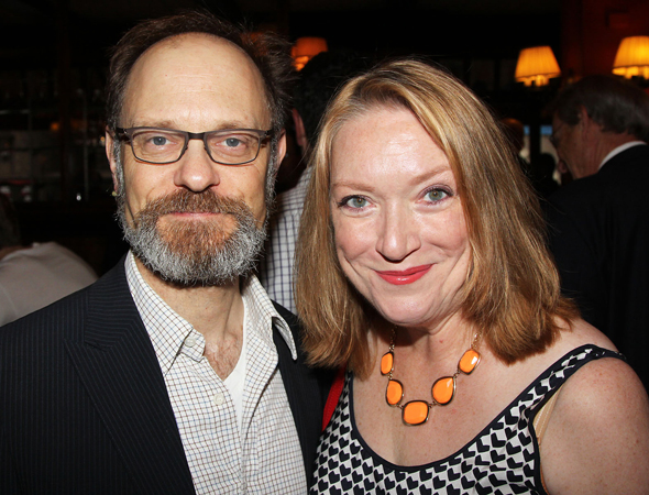 David Hyde Pierce and Kristine Nielsen were on hand to celebrate Vanya and Sonia and Masha and Spike winning Best New Play.<br />(© 2013 Bruce Glikas/OffBroadwayAlliance)