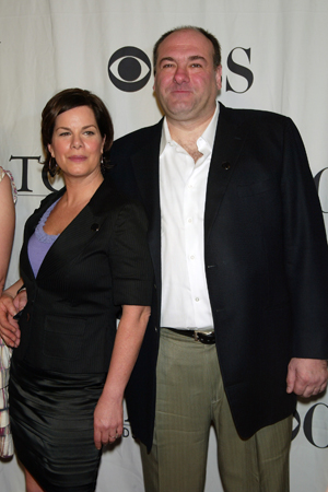 Gandolfini's co-star Marcia Gay Harden won the Tony for Best Actress in a Play.<br />(© Joseph Marzullo / WENN)