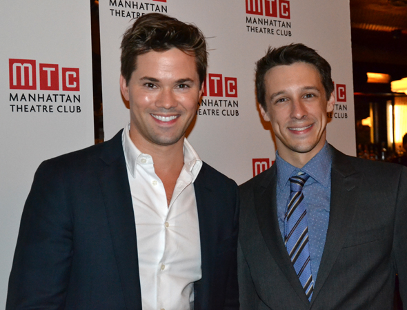 Guests included <i>The Book of Mormon</i> veterans Andrew Rannells and Jason Michael Snow.<br />(© David Gordon)