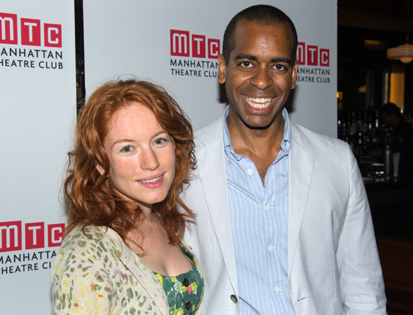 Maria Thayer and Daniel Breaker smile for the camera.<br />(© David Gordon)