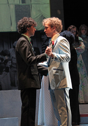 Felix Teich as Paul Guilbert and Ian Shain as Aaron Fricke in BCT's 2012 production of <i>Reflections of a Rock Lobster</i>.