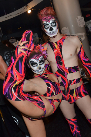 Broadway Bares contortionists show off their skills.<br />(© David Gordon)