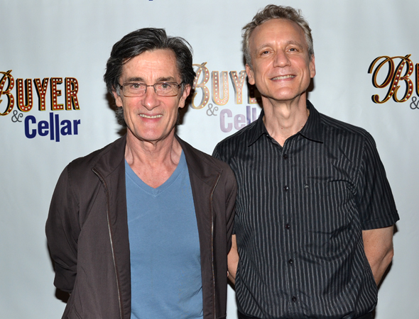 Roger Rees and Rick Elice spend the evening at the theater.<br />(© David Gordon)