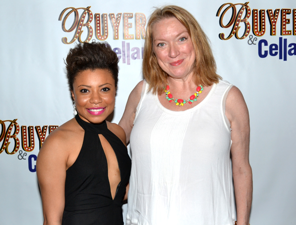 Shalita Grant and Kristine Nielsen take in an Off-Broadway comedy on their night off from <i>Vanya and Sonia and Masha and Spike</i>.<br />(© David Gordon)