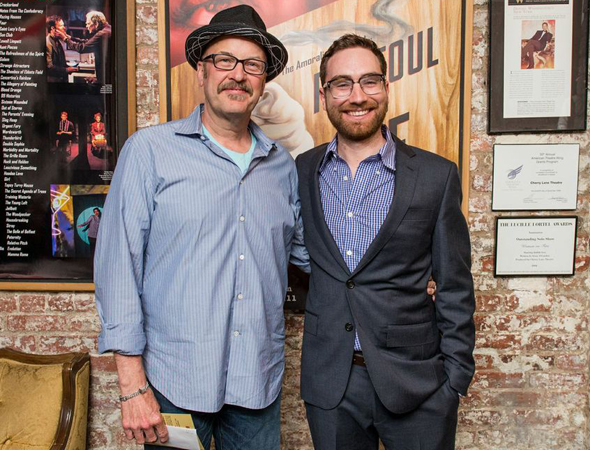 Playwright Mark Roberts smiles next to director Jay Stull.<br />(© Russ Rowland)