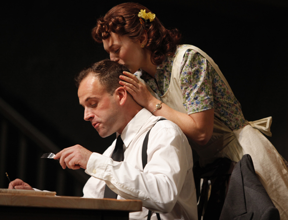 Jonny Lee Miller (seen here opposite Marin Ireland in Roundabout Theatre Company's <i>After Miss Julie</i>) appeared in season five as murderous motivational speaker Jordan Chase.<br />(© Joan Marcus)