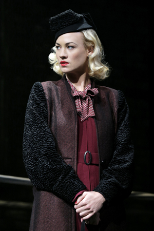 Yvonne Strahovski wowed Broadway with her 2012 debut performance as Lorna Moon in <i>Golden Boy</i>. On <i>Dexter</i>, she currently plays Hannah McKay, a femme fatale with a penchant for plants and poison.<br />(© Paul Kolnik)