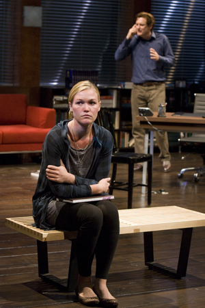 On the fifth season of <i>Dexter</i>, Julia Stiles, who appeared on Broadway in the 2009 revival of <i>Oleanna</i> and in the 2002 Shakespeare in the Park production of <i>Twelfth Night</i>, played one of the title character's murderous lovers, Lumen Pierce.<br />(© Craig Schwartz Photography)