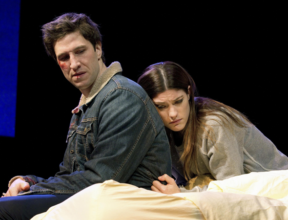 Jennifer Carpenter, best known as Dexter Morgan's foul-mouthed and emotionally fragile sister Debra, made her Broadway debut in the 2002 revival of <i>The Crucible</i>, and returned to the stage in Second Stage's 2011 Off-Broadway production of <i>Gruesome Playground Injuries</i>, opposite Pablo Schreiber.<br />(© Joan Marcus)