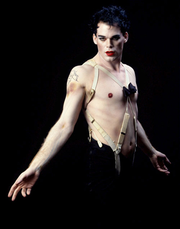 Michael C. Hall, who plays the serial-killing title character, has appeared in many productions on and off Broadway, from Shakespeare's <i>Macbeth</i> and <i>Cymbeline</i> to Sam Mendes' acclaimed revival of <i>Cabaret</i>. Here he is as <i>Cabaret</i>'s Emcee, the production's first replacement.<br />(© Joan Marcus)