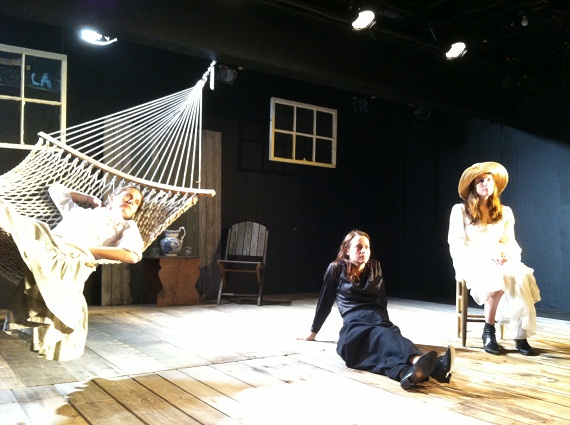 Brenda Withers, Stacy Fischer, and Amanda Collins in <i>The Seagull</i>.