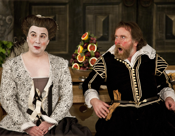 Paul Chahidi and Colin Hurley in <i>Twelfth Night</i>